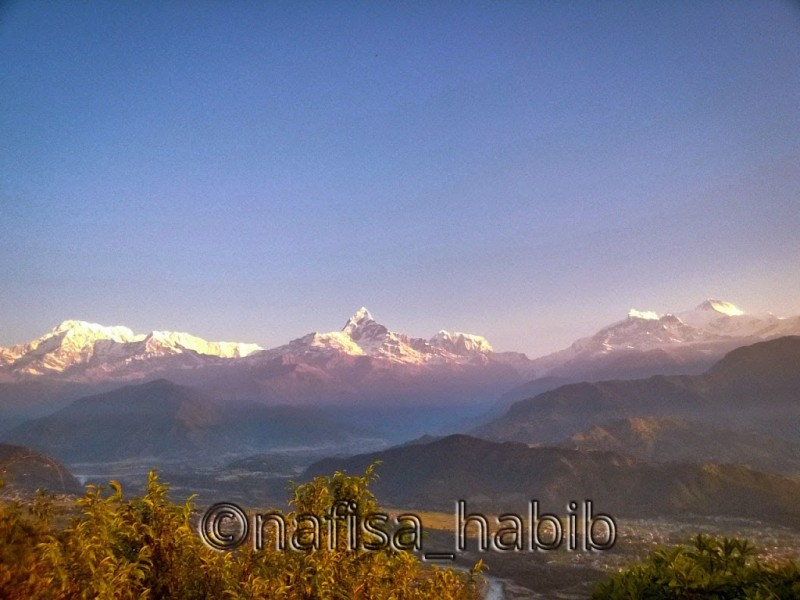 annapurna mountain sunrise - Popular Tourist Destination Pokhara in Nepal (Top Things To Do & See)