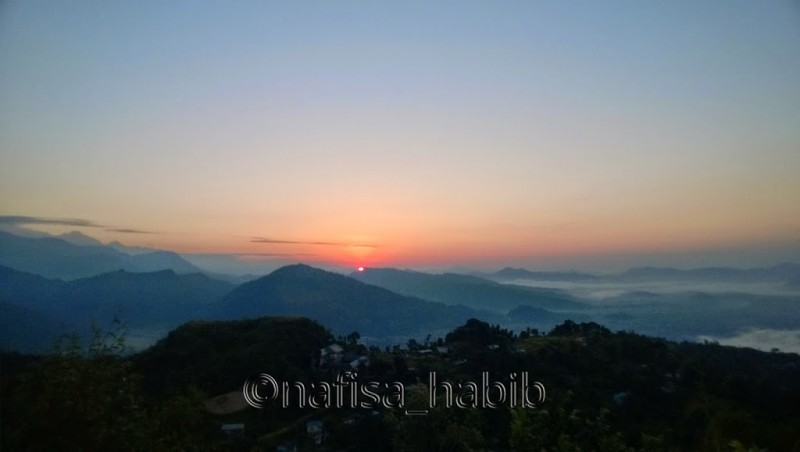Spectacular Sunrise from Sarangkot in Pokhara
