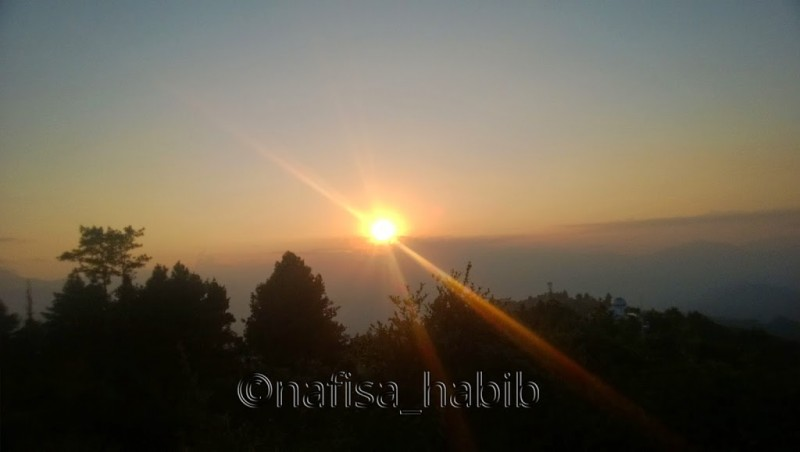 Sunset View from Nagarkot in Kathmandu