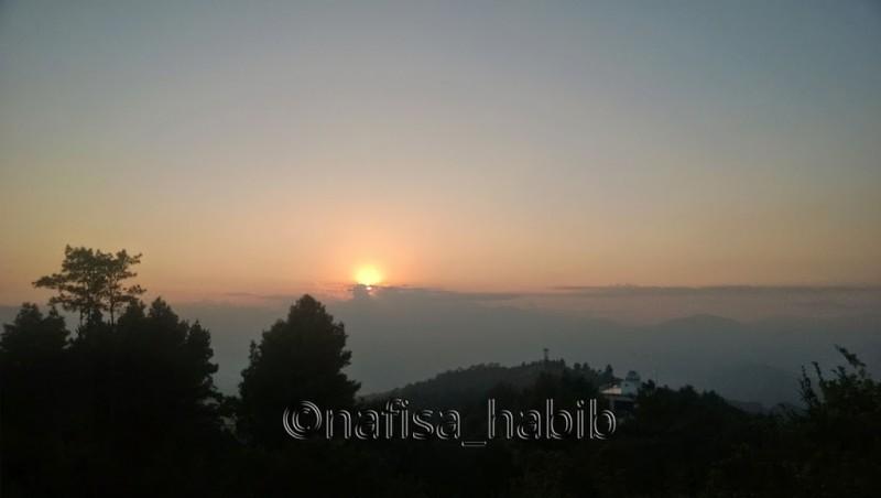 Sunset Moment in Nagarkot, Nepal