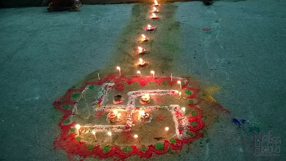 Tihar Celebration in Pokhara Nepal