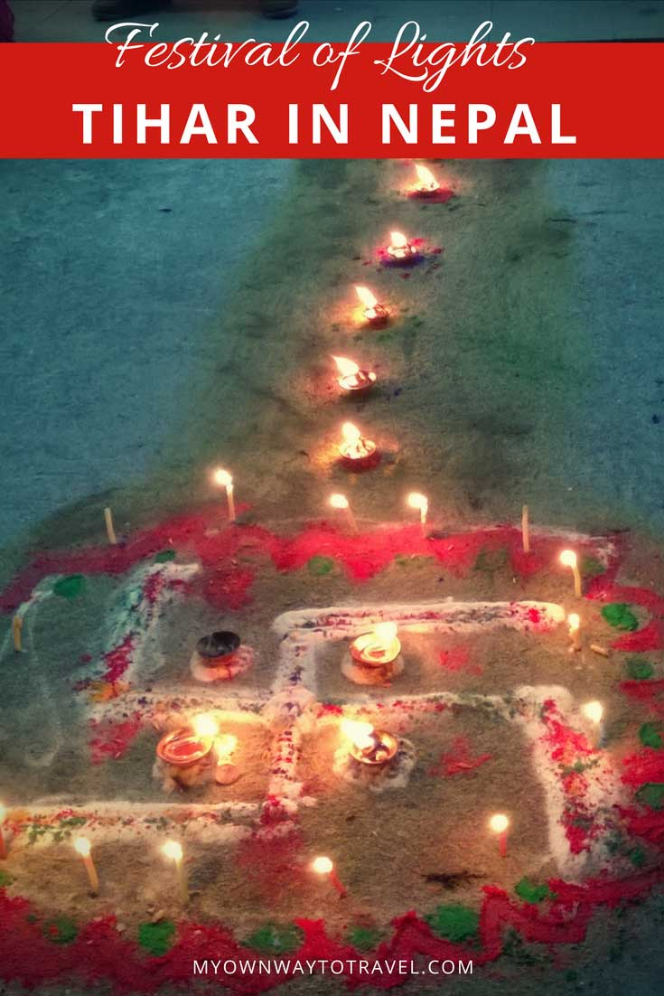 To Celebrate Tihar, the Festival of Lights in Pokhara, Nepal