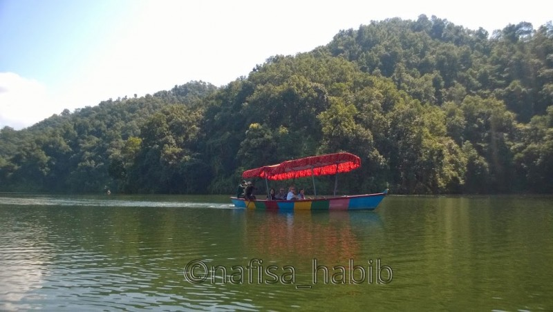 Boating on Begnas Lake Pokhara