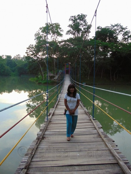 Hanging Bridge at Meghla Parjatan Complex