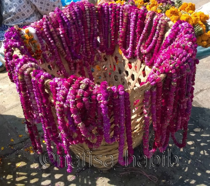 Marigold Garlands outside of the Swayambhunath Temple