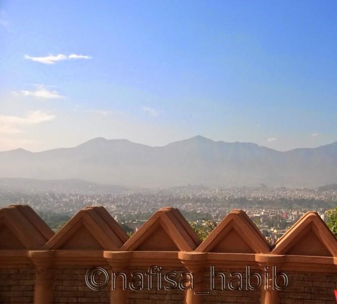 Mountain views from the top of Swayambhunath
