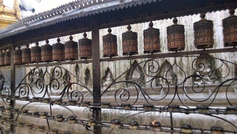 Prayer Wheels at Swayambhunath