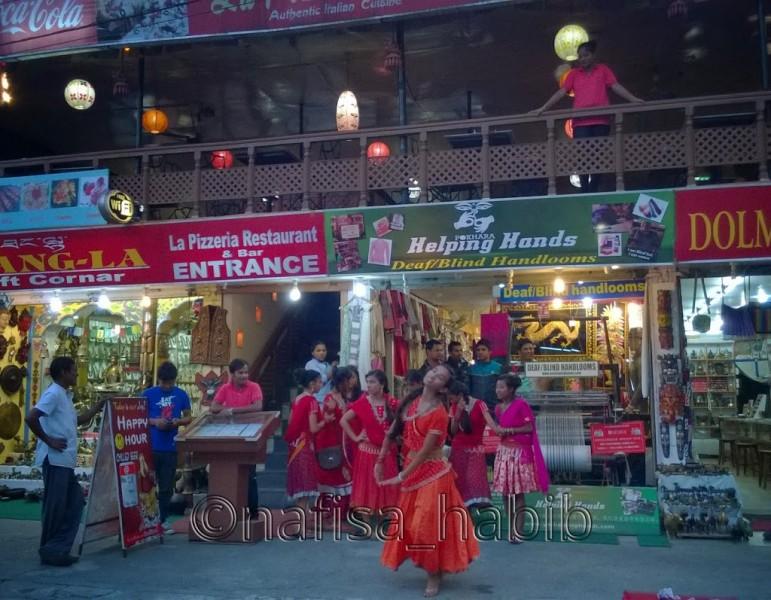 Tihar Celebration - On the roadside of Pokhara