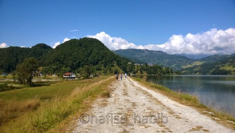Walkway in Begnas Lake