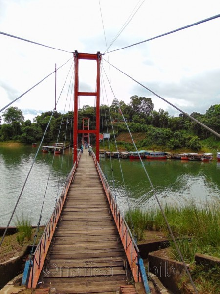 Rangamati Hanging Bridge is one of the popular tourist attractions in Rangamati, Bangladesh