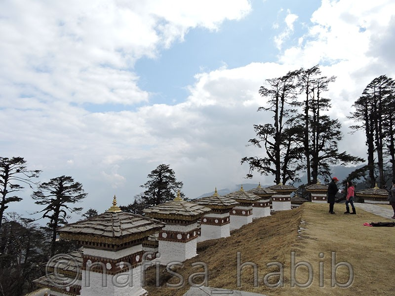 Beautiful Dochula Pass in Thimphu, Bhutan