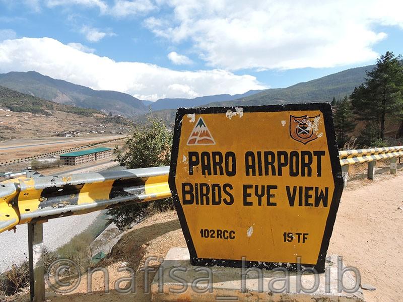 paro airport birds eye view bhutan - Five Must Visited Place in Paro, Bhutan