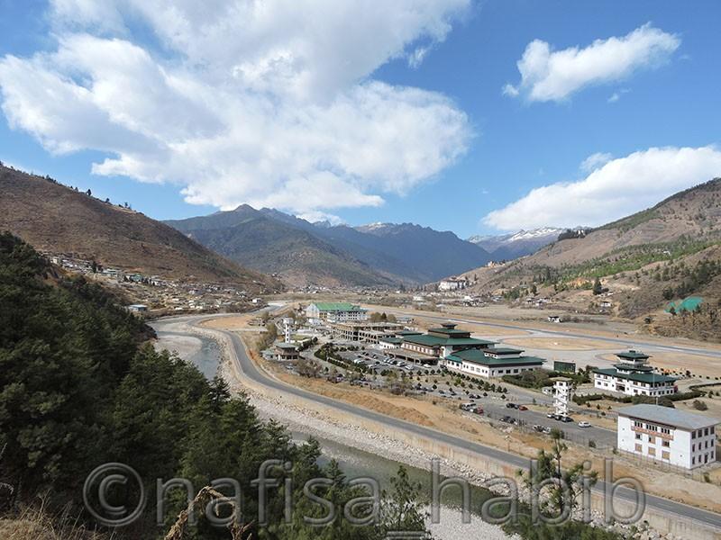 paro airport birds eye view - Five Must Visited Place in Paro, Bhutan