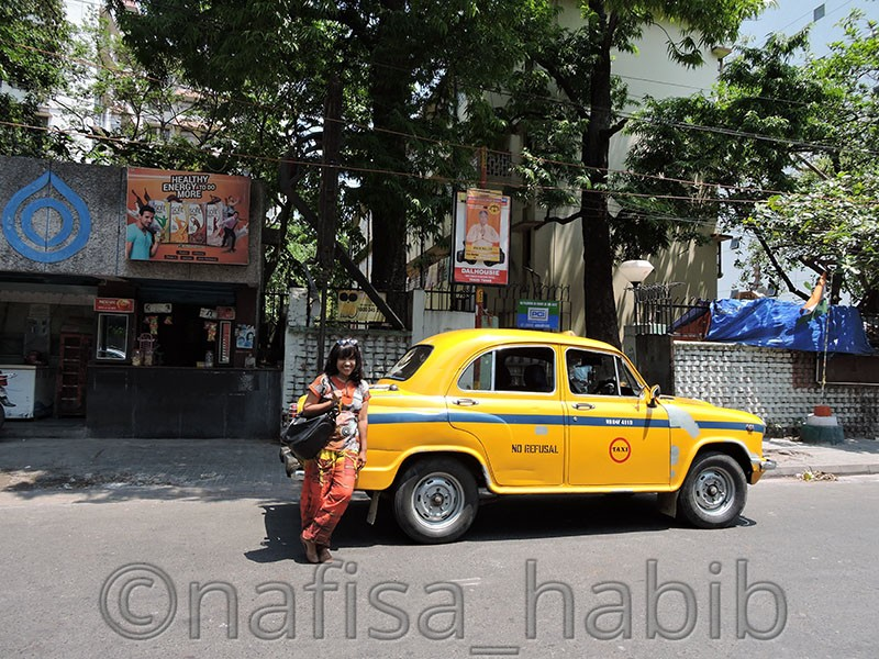 Yellow Taxi in Kolkata