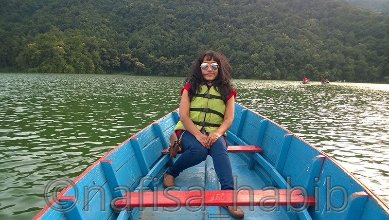 Boating on Fewa Lake Pokhara
