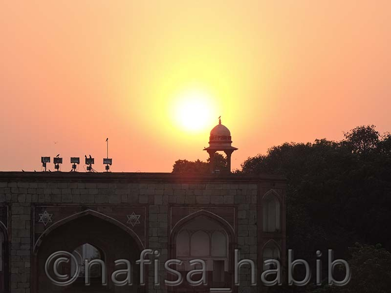 Sunset View From Humayun's Tomb in India