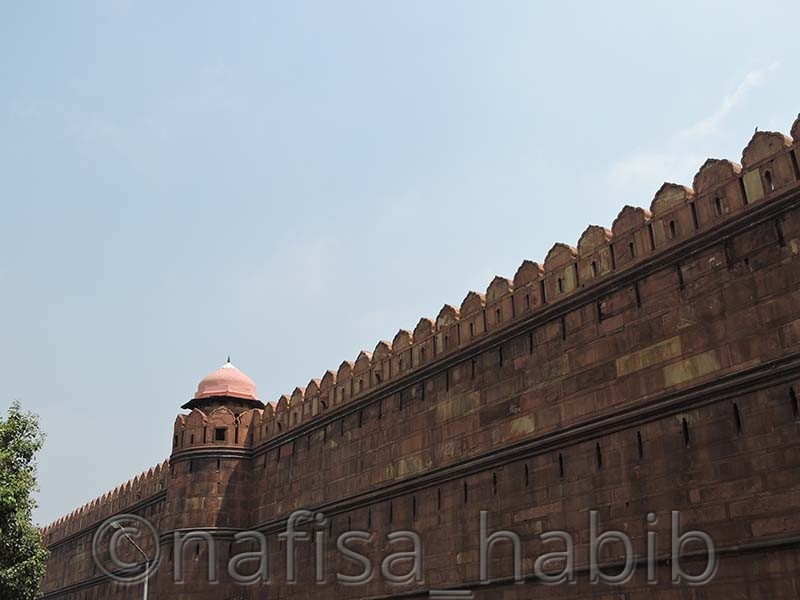 red fort defensive wall - Top 3 Must-Visit Beautiful Historical Monuments in Delhi, India