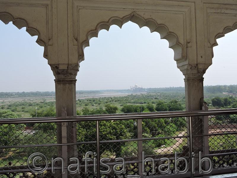 Taj Mahal View from Mutahamman Burj