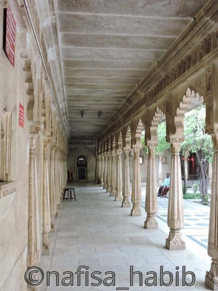 City Palace Badi Mahal Corridor in Udaipur