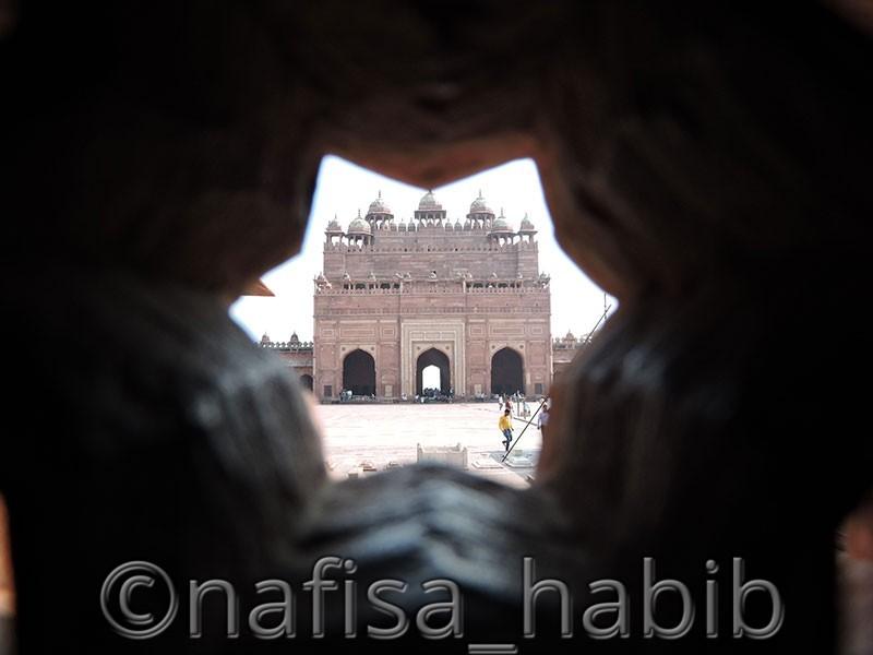 The Backside of Buland Darwaza in Fatehpur Sikri