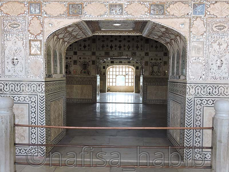 sheesh mahal - Amber Fort: Main Tourist Attraction in Jaipur, Rajasthan