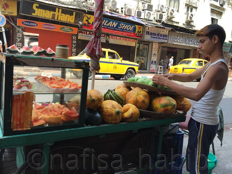 Fresh Fruits Stall in Kolkata