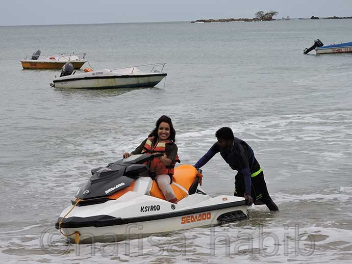 Jet Skiing at Corvyn's Cove Beach