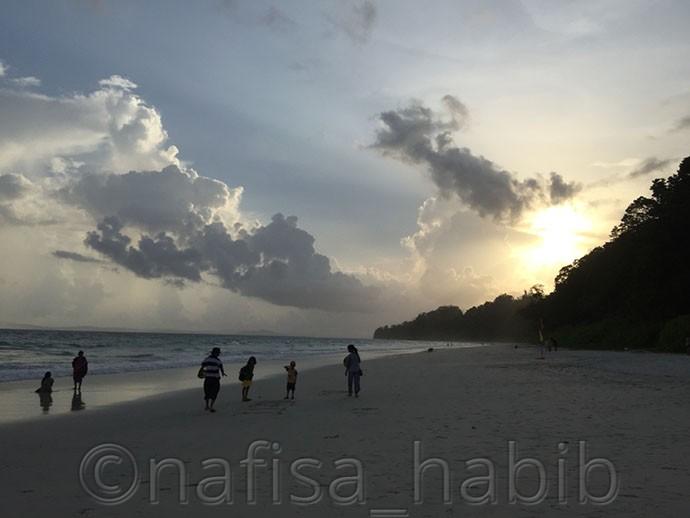 Sunset Beauty at Radhanagar Beach