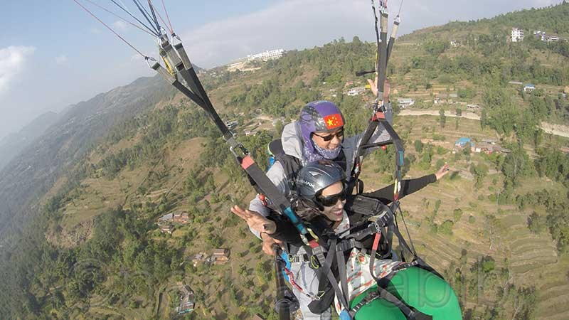 Paragliding From Sarangkot in Pokhara