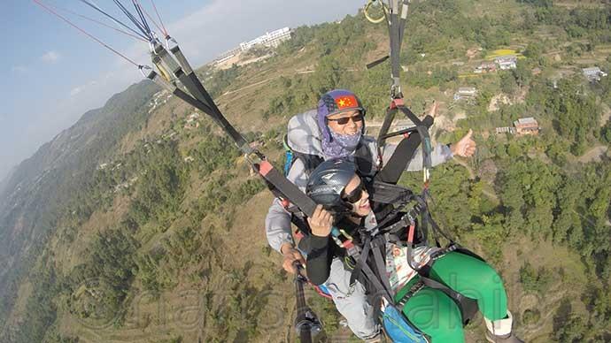 paragliding at sarangkot pokhara