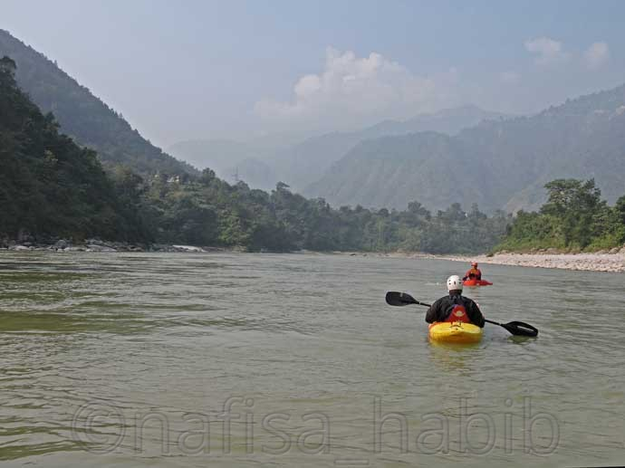 Scenic view from Trishuli River
