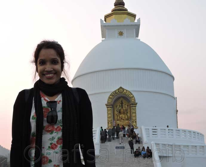 With World Peace Pagoda in Pokhara - Popular Tourist Destination Pokhara in Nepal (Top Things To Do & See)