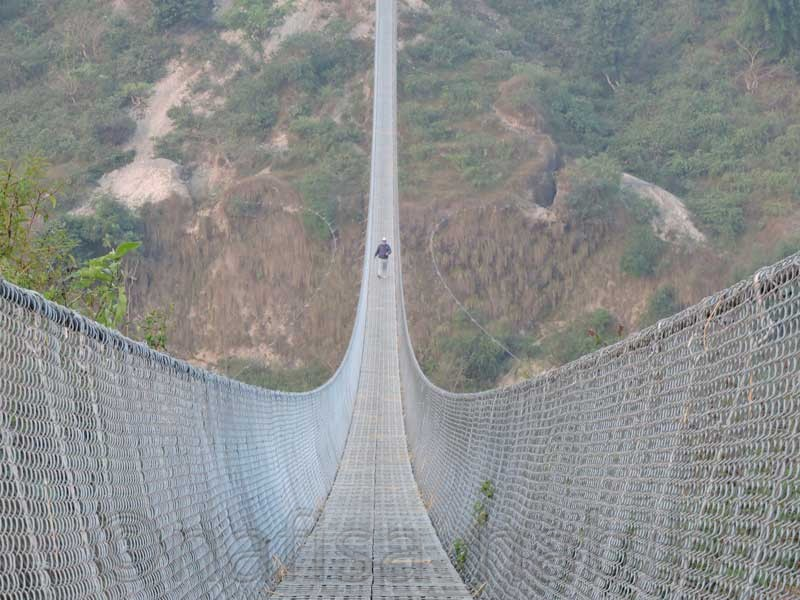 Kushma Gyadi Suspension Bridge in Nepal