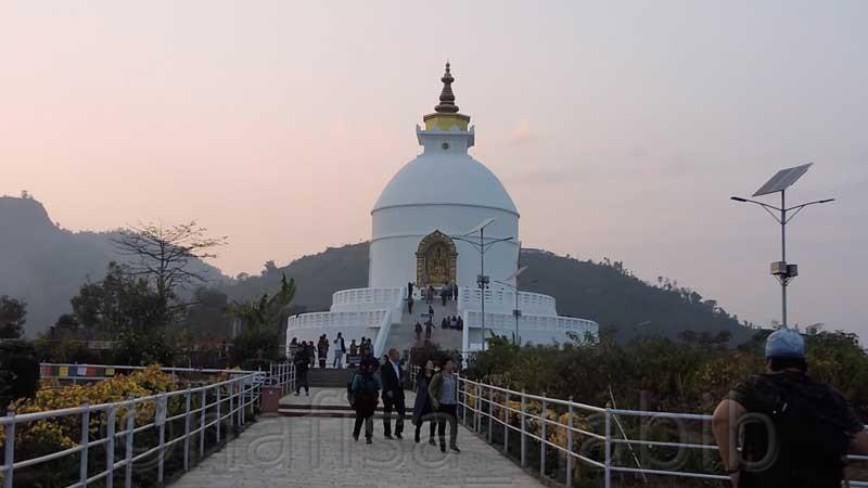 Shanti Stupa in Pokhara, Nepal