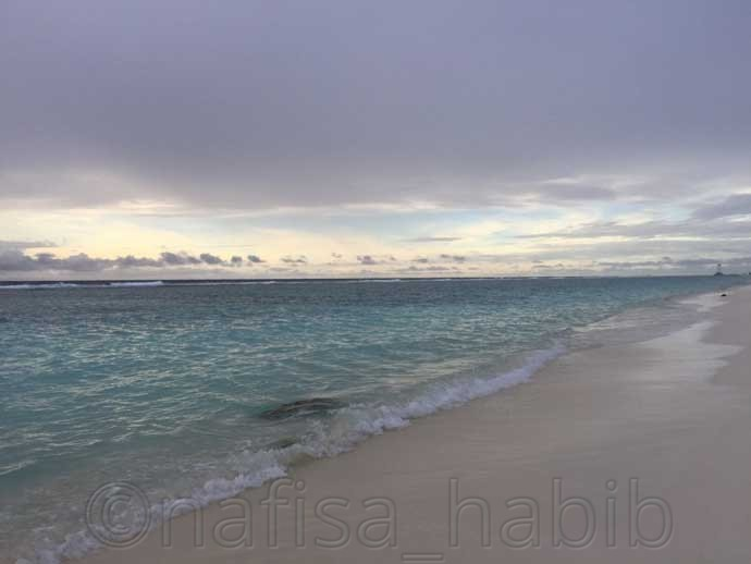 Hulhumale Beach in the Hulhumale Island