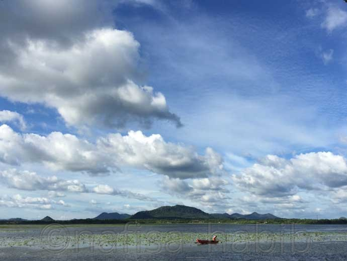 Tissa Wewa Lake in Tissamaharama - Three Hours Jeep Safari Tour at Yala National Park in Sri Lanka