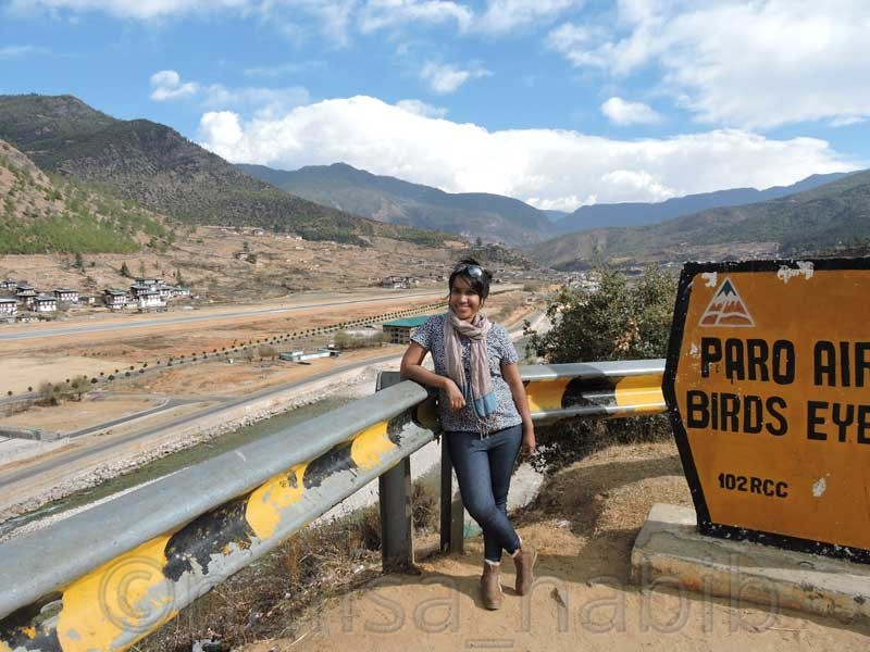 Paro Airport Birds Eye View in Bhutan