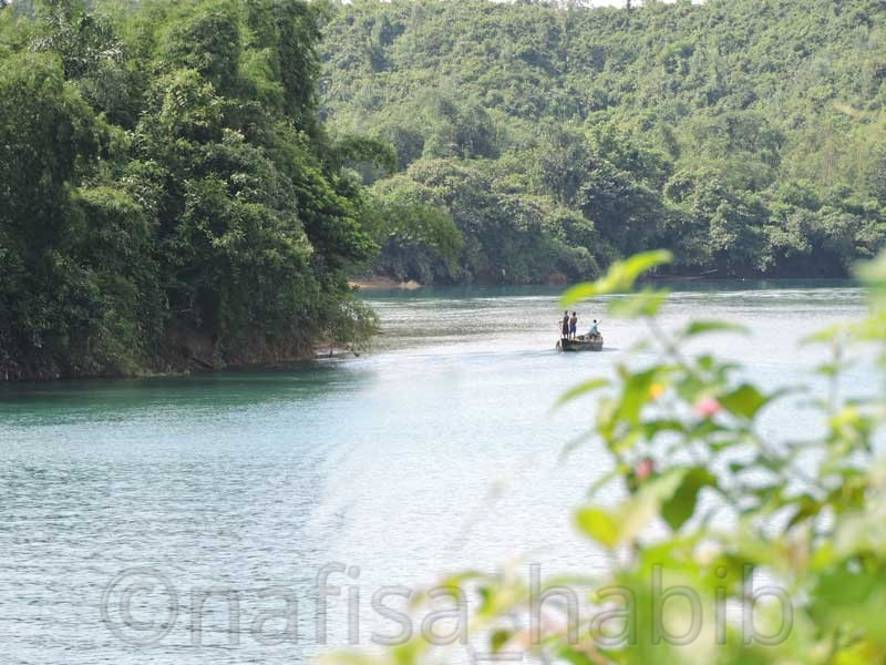 Sari River in Sylhet, Bangladesh