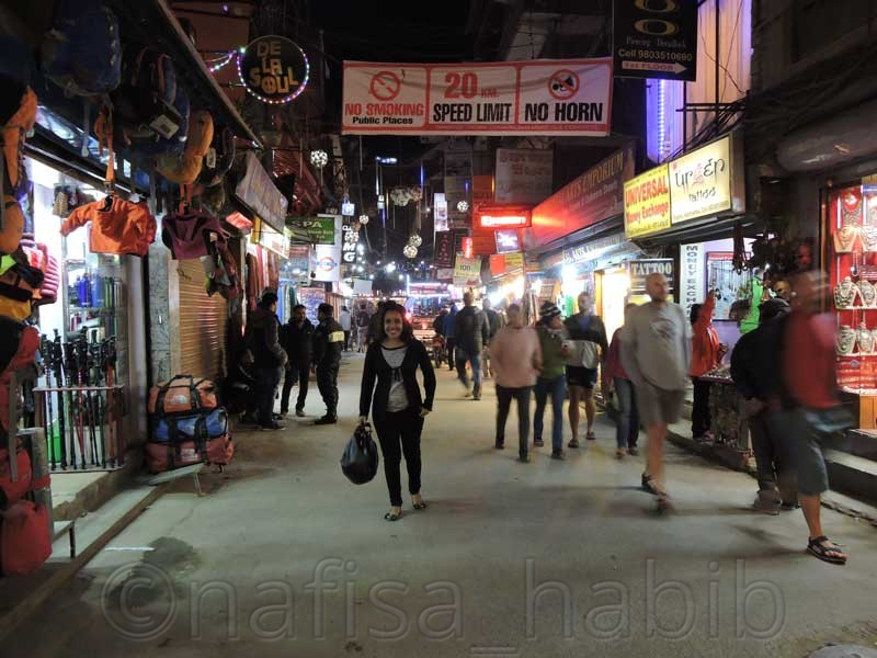 Tourist Destination Thamel in Nepal