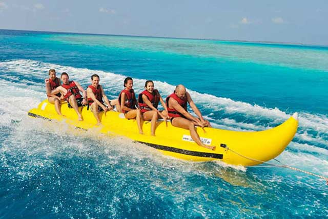 Banana Boat Rides at Hotel Ocean Grand in the Hulhumale Island