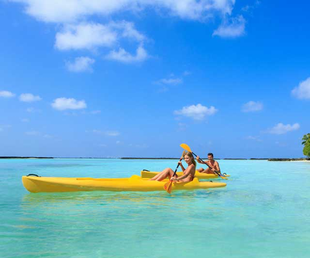 Kayaking at Kurumba Resort in the Maldives