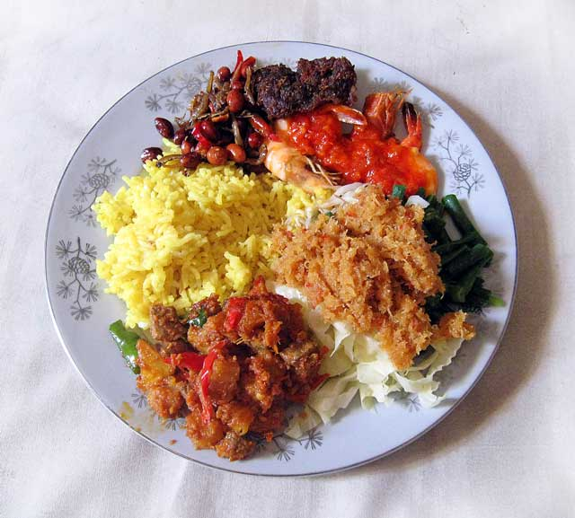 Nasi Kuning Balinese Yellow Rice
