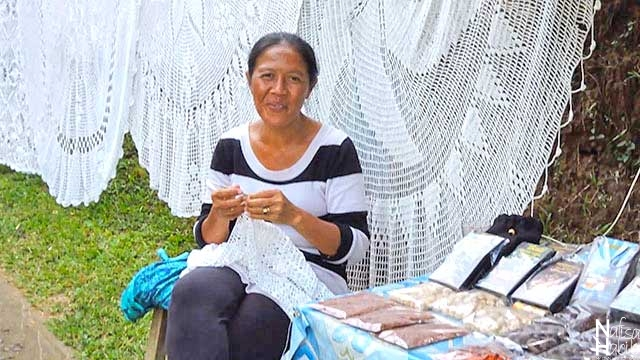 Balinese Woman Knitting Crochet at Gitgit