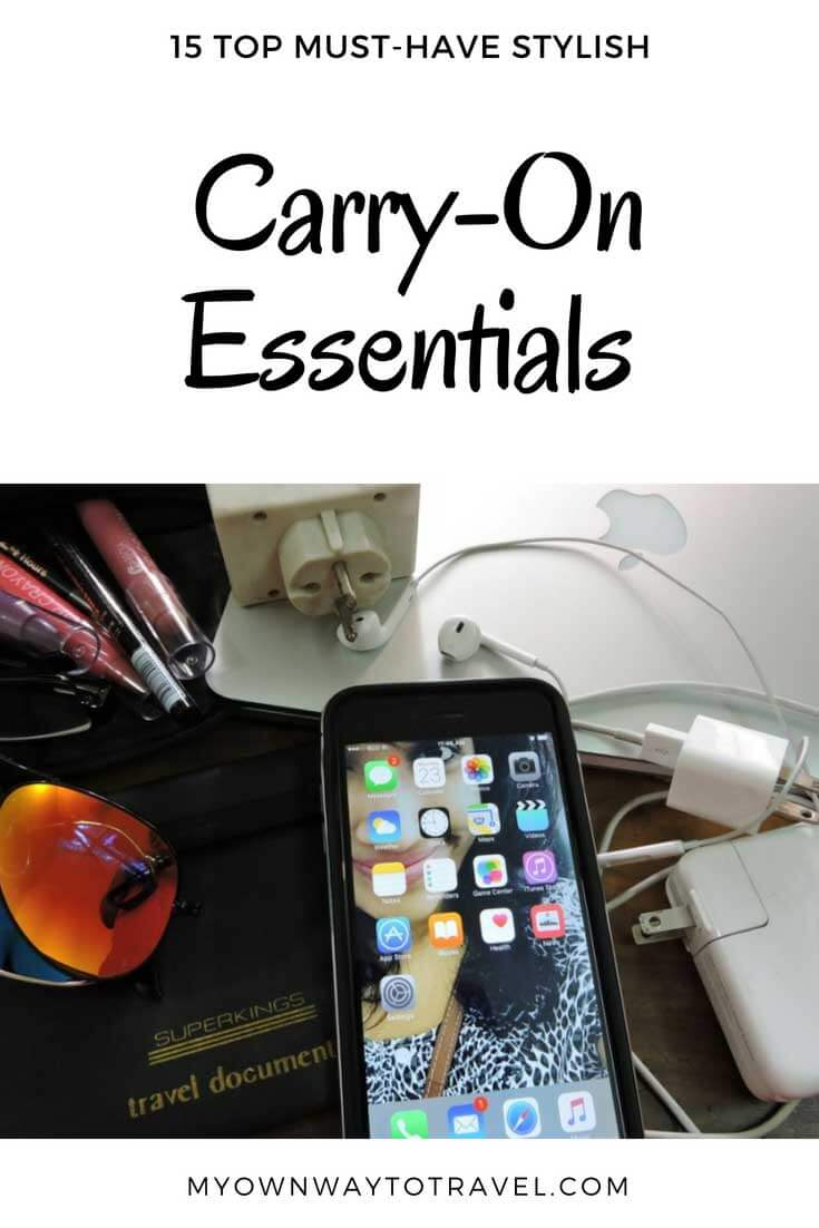Top Must-Have Stylish Carry-On Essentials For Carry-On Bag