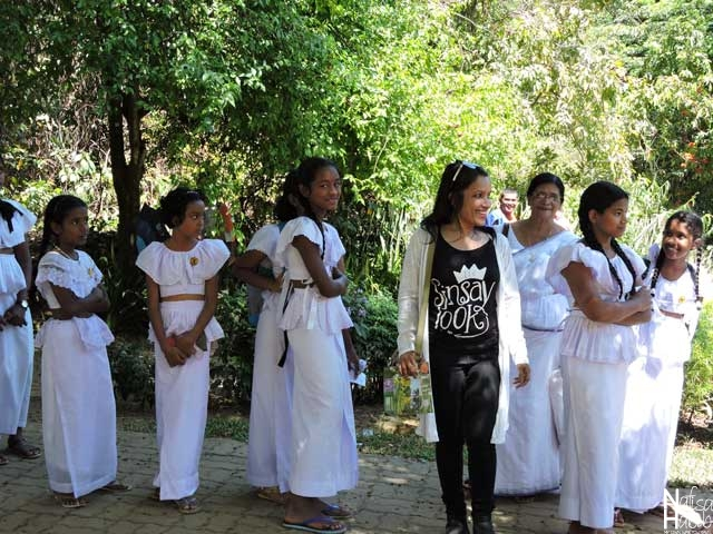 Sri Lankan School Girls at Royal Botanic Gardens in Peradeniya