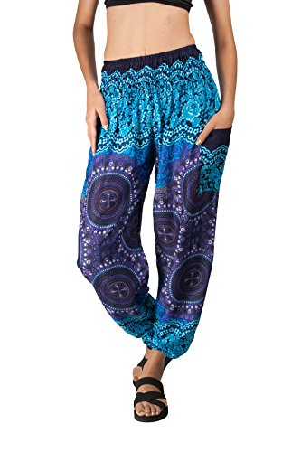 ded988c83632 JOOP JOOP Bohemian Beach Pants for women is a comfortable and beautiful  printed lightweight travel pant. This Boho beach style summer pant is also  perfect ...
