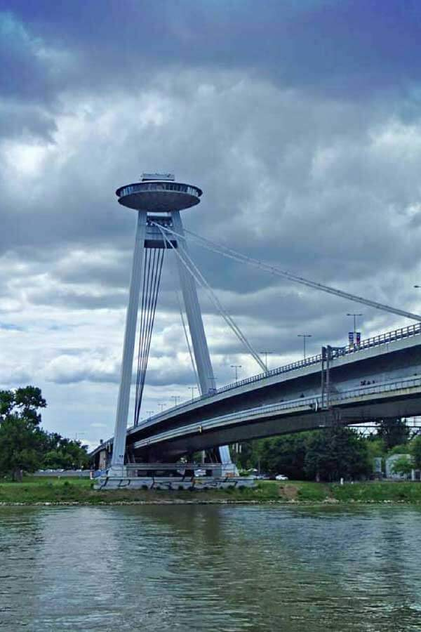 Sightseeing Attractions in Europe - Bratislava UFO Bridge in Slovakia