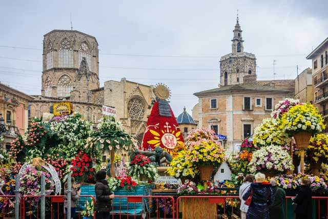 Religious Festivity of Valencia in Spain