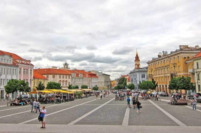 Sightseeing Attractions in Europe - Town Hall Square in Vilnius, Lithuania