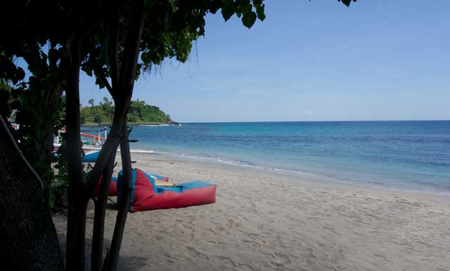 Beach of Lombok Island in Indonesia